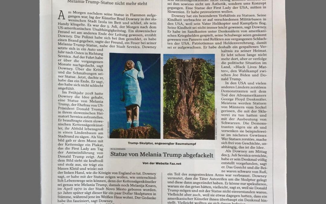 Brad Downey's Projekt 'Melania' im Spiegel